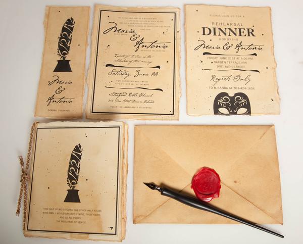 Romeo And Juliet Wedding Invitations: Love According To Shakespeare