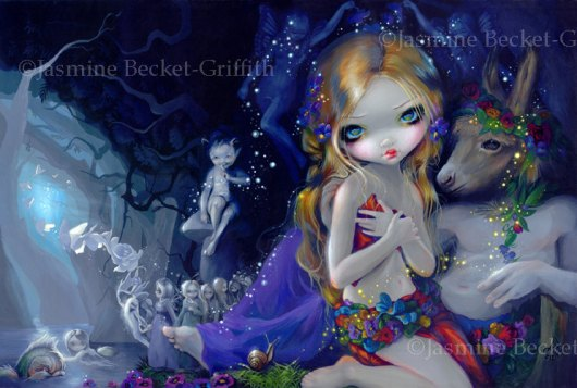 A Midsummer Night's Dream shakespeare titania puck fairy art print by Jasmine Becket-Griffith