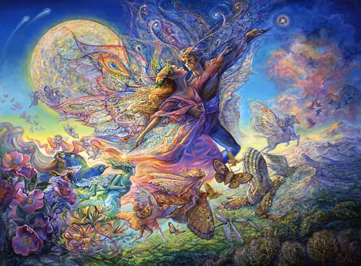 Oberon and Titania by Josephine Wall