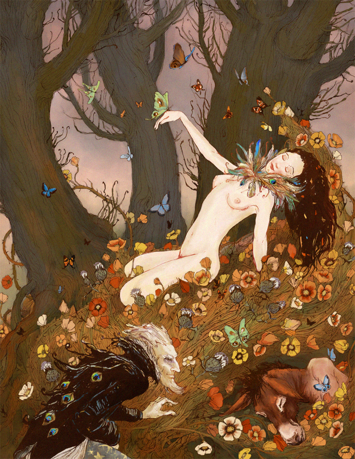 queen of the fairies portrayals in contemporary visual art of