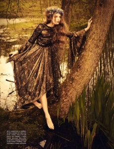 Eniko Mihalik in the 2012 issue of Vogue Italia