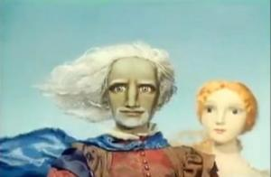 Prospero and Miranda in the animated adaptation of The Tempest
